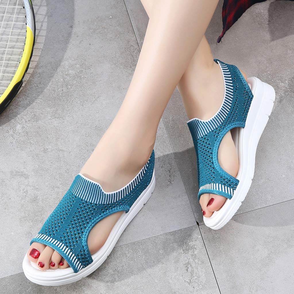 ✔ Hypothesis_X ☎ Men's and Women's Garden Clogs Shoes Sandals Slippers Roman Casual Flock Sandals Dark Blue by ✔ Hypothesis_X ☎ Shoes (Image #6)