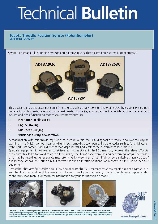 Blue Print ADT37203C Drosselklappenstellungssensor