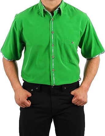 Camisa de Microfibra en Verde, Almendra HK, Camisa para ...