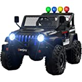 Uenjoy Ride on Car with Remote Control 12V Electric Car for Kids, Music, Story Playing, Colorful Lights, Sunshine Model…