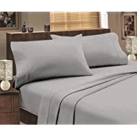 Jenny McLean Abrazo Flannelette 175GSM Egyptian Cotton Sheet Set Mega-King Silver