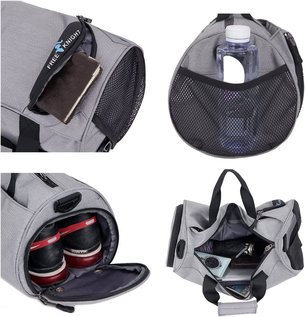Gym Bag with Shoe Compartment Men and Women Duffel Bag Small blue