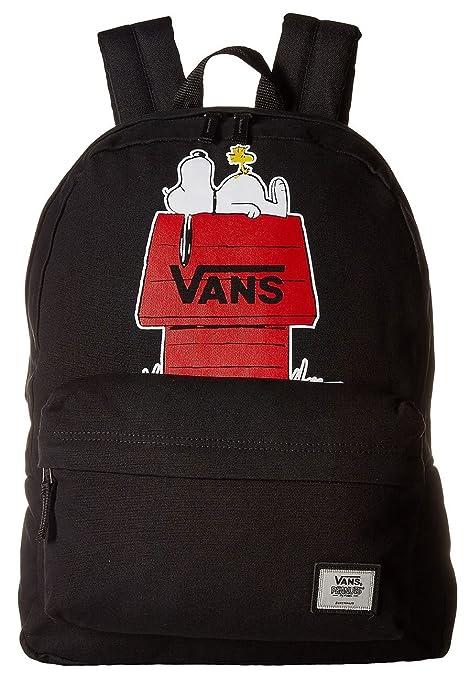 Vans x Peanuts Realm Negro Rojo Unisex Escuela Bolso Mochila: Amazon.es: Zapatos y complementos