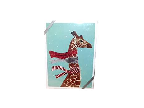 Amazon animal holiday greeting cards giraffe office products animal holiday greeting cards giraffe m4hsunfo