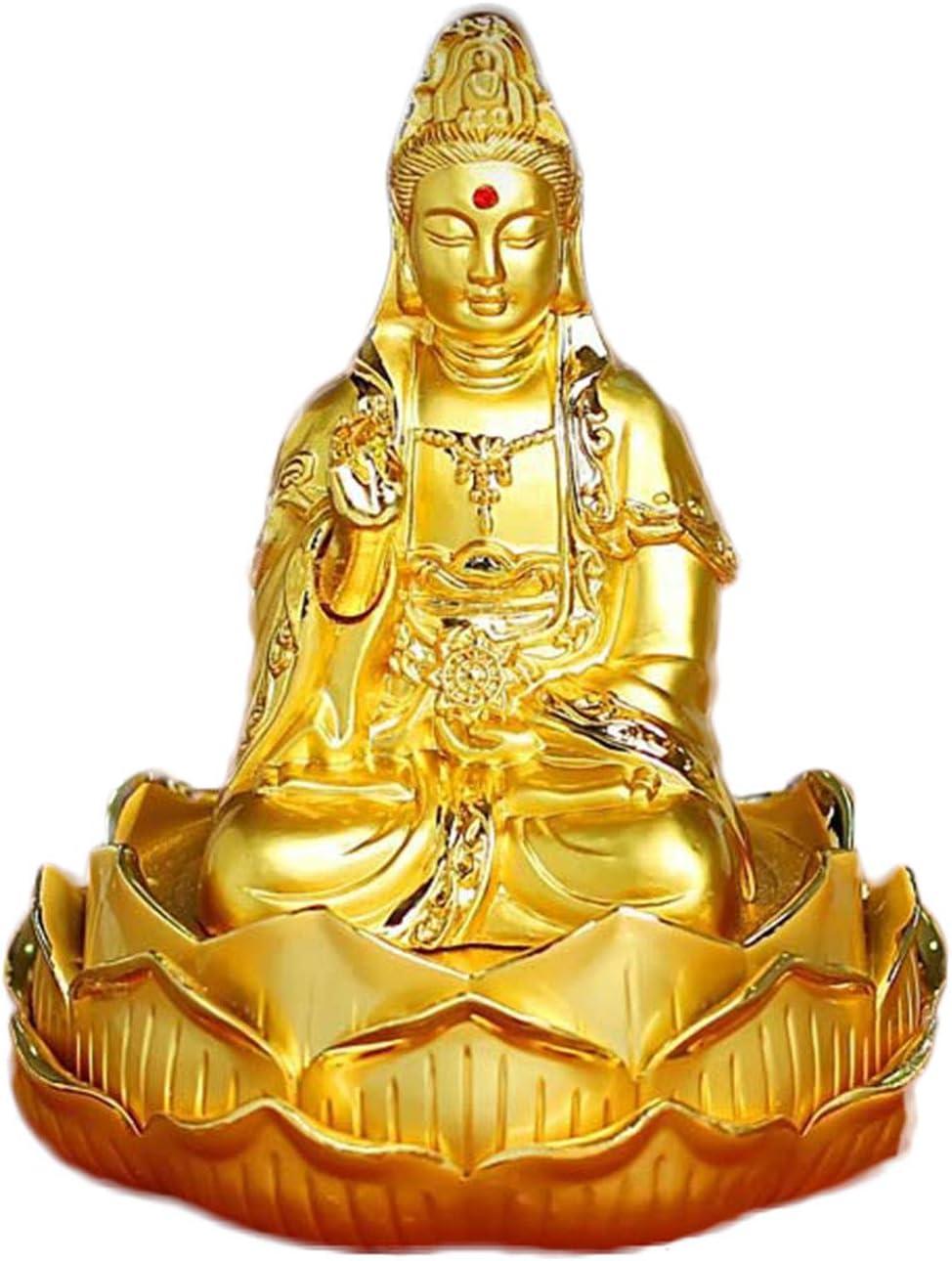 LHMYGHFDP Kuan Yin/Thousand Hand Guanyin Buddha Statue Feng Shui Car Car Flavor Air Freshener Wealth Lucky Statue Wedding Gift,A