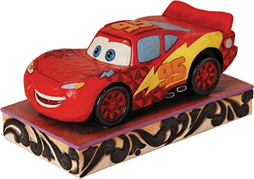 Enesco Disney Traditions by Jim Shore Lightning McQueen Figurine, 3-Inch
