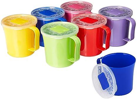 Amazon.com: Zilpoo 6 unidades – Taza de sopa con tapa y asa ...