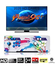 [2400 HD Games] Arcade Video Game Console, SeeKool Pandora's Box 9s+ Multiplayer Home Players Joystick and Buttons Arcade Console, Customized Buttons, 1280x720 Full HD, Advanced CPU, Support PS3, Game Controller, TV Set, Monitor, Projector, PC/Laptop, Compatible with HDMI and VGA