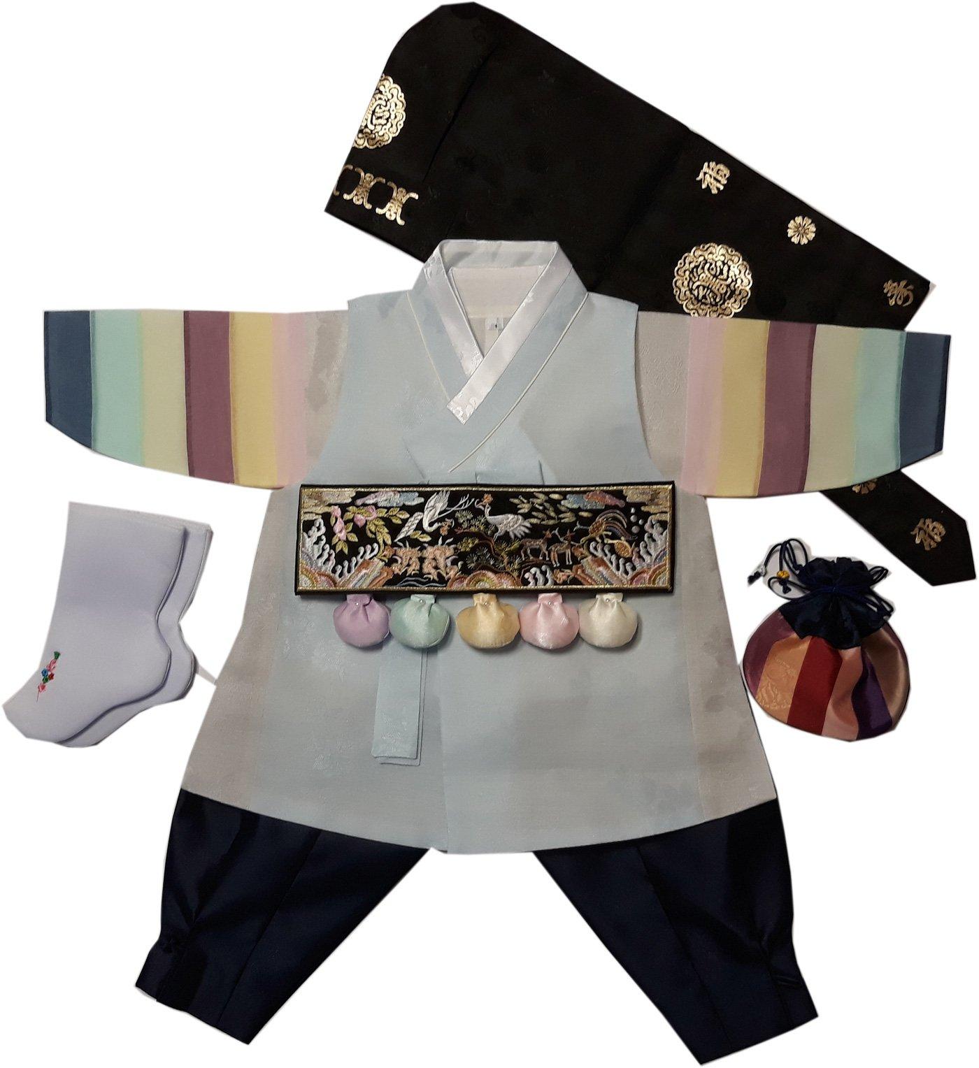Hanbok Boys Babies kids Korean traditional costumes HANBOK 1st Birthday DOLDBOK hb1002