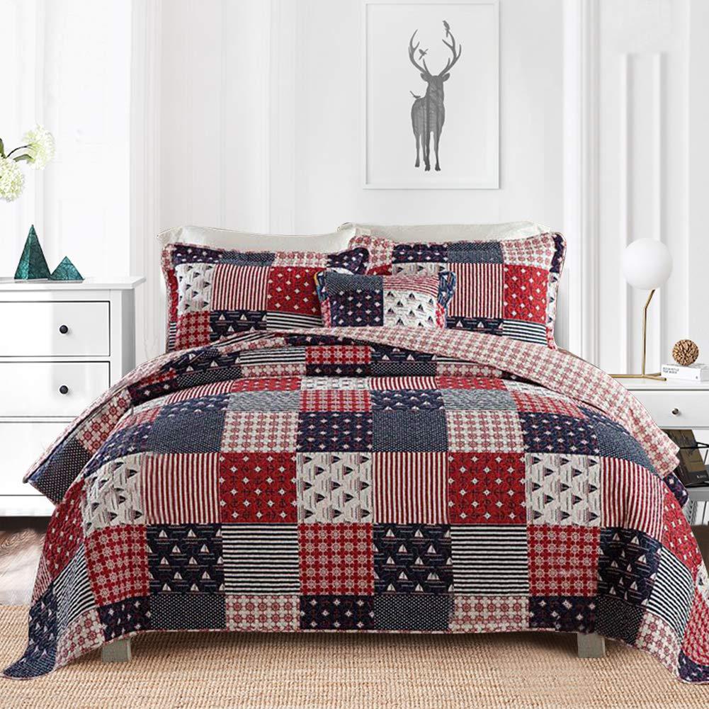 Gravan 3-Piece Queen Quilt Sets with Shams Oversized Bedding Bedspread Coverlet Set (Elegant Grey, Queen)