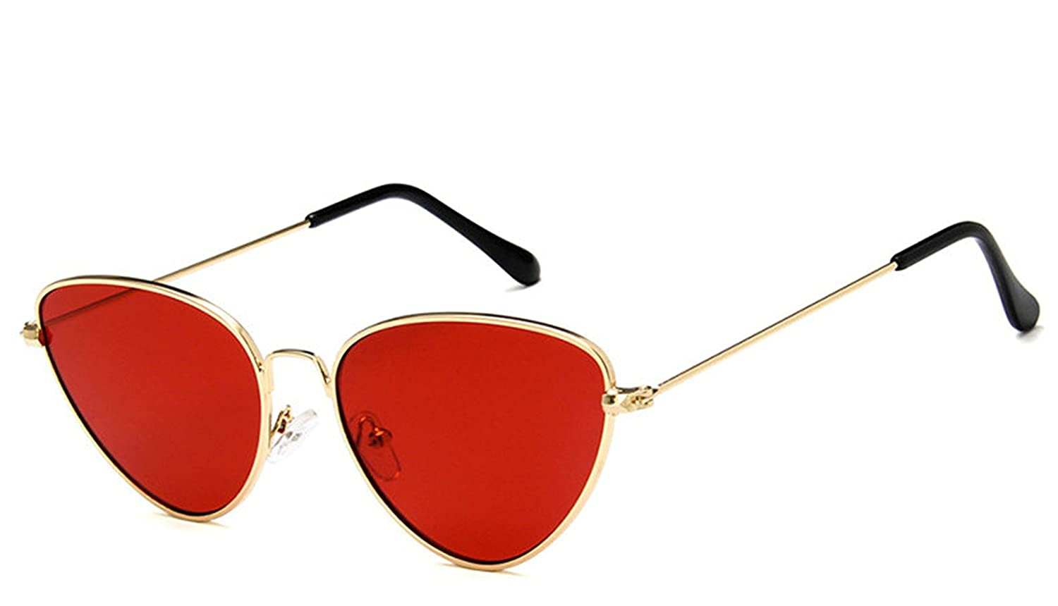 Amazon.com: Trendy Tinted Color Vintage Shaped Sun Glasses ...