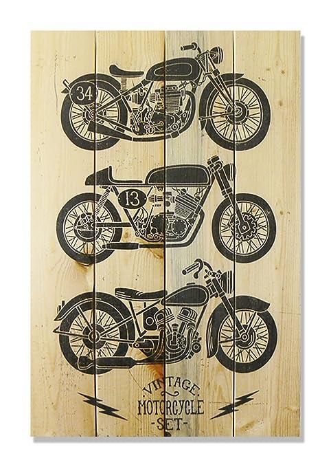 Wile E. Wood U0026quot;Vintage Motorcycle Wall Art, ...