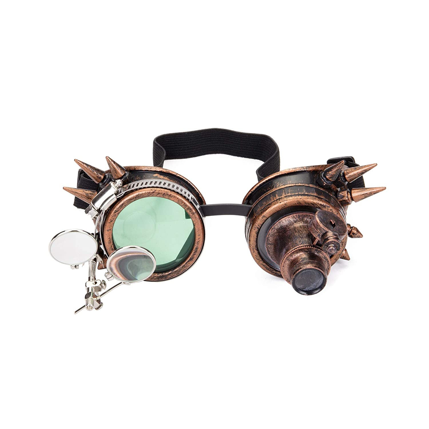 FOCUSSEXY Kaleidoscope Glasses Rave Crystal Prism Steampunk Goggle Fashion FS@MG041B-CN-WLJ01
