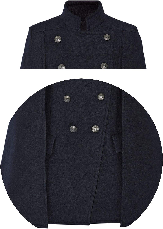 Fall//Winter Newest Designer Women Oversized Wool Poncho Navy Cape Coat Cloak Manteau Femme Abrigos Mujer