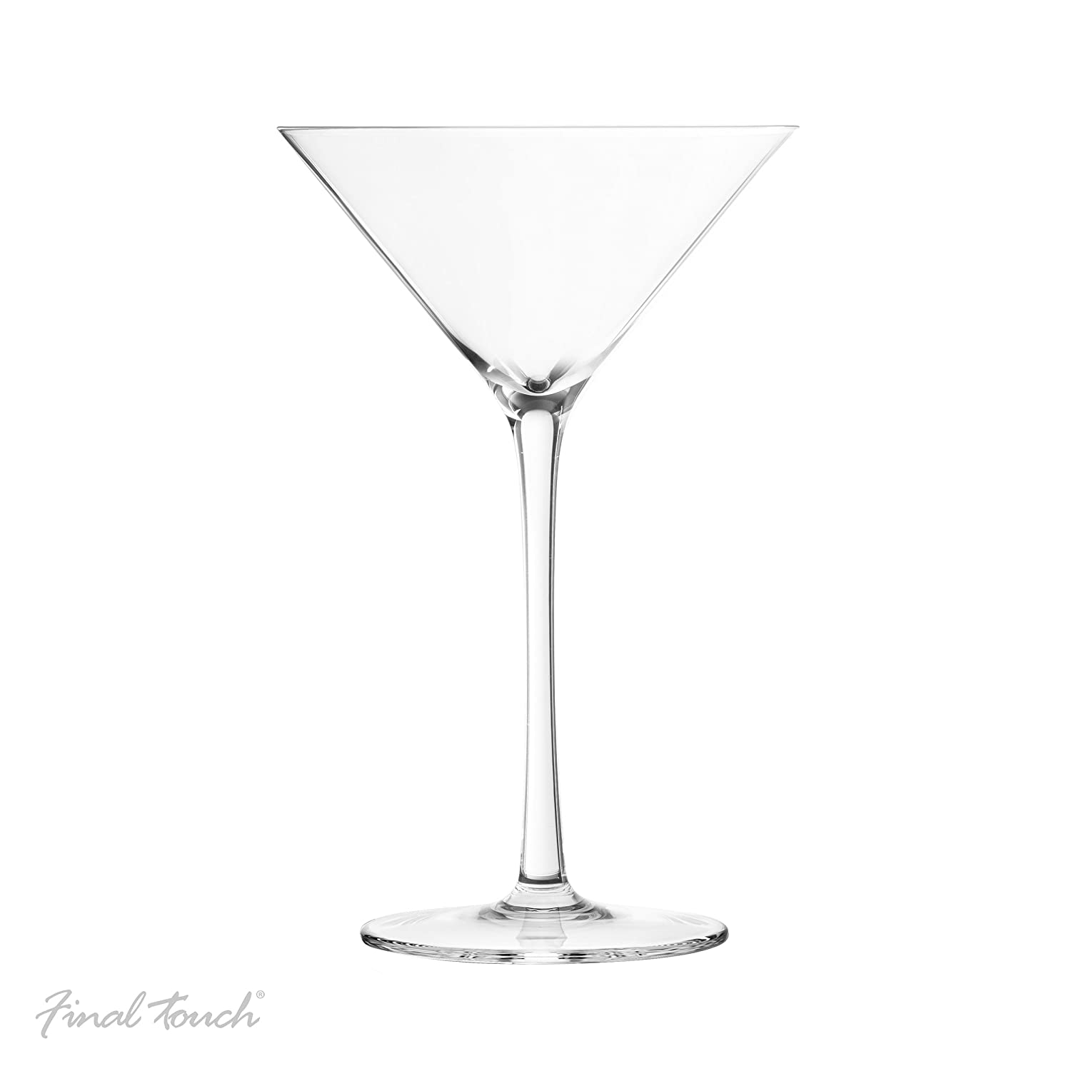 Final Touch Lead-Free Crystal Glasses - Hand Crafted for Martini, Set of 2 Product Specialties Inc.