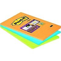 Post-it Notes Super Sticky Lignées Neon - 101 x 152 mm - Lot de 3