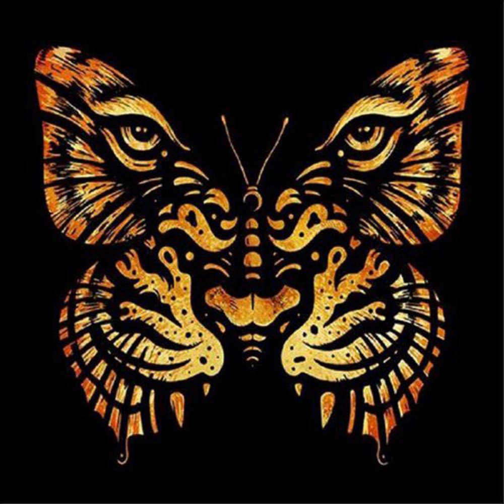 DIY Diamond Painting,5D Partial Drill Diamond Rhinestone Pasted Embroidery Cross Crafts Stitch Kit Arts Craft Home Decor Tiger Butterfly