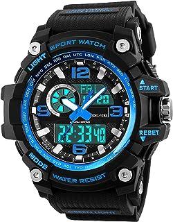 Relojes Deportivos para Hombre, Resistente al Agua Digital Militares Relojes con Cuenta atrás para los