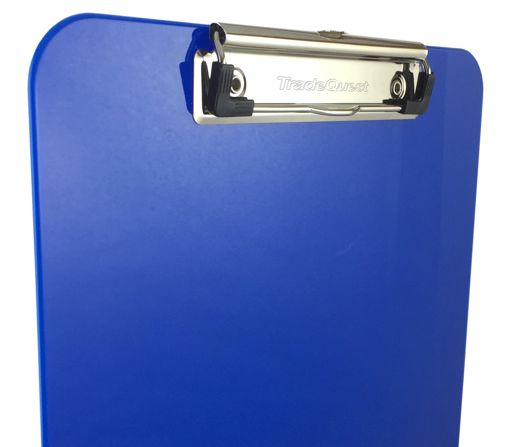 Trade Quest Plastic Clipboard Opaque Color Letter Size Low Profile Clip (Pack of 6) (Dark Blue) by Trade Quest (Image #3)