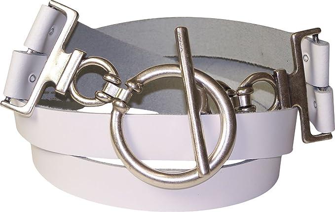 66767f676809 Fronhofer Ceinture pour femme ceinture de hanches ceinture en cuir  véritable d environ 6 cm