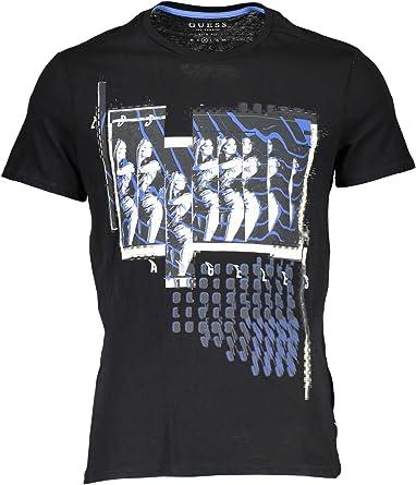 Guess NOUBOUFICE - Camisetas para hombre, diseño marino Schwarz A996 XXL: Amazon.es: Ropa y accesorios
