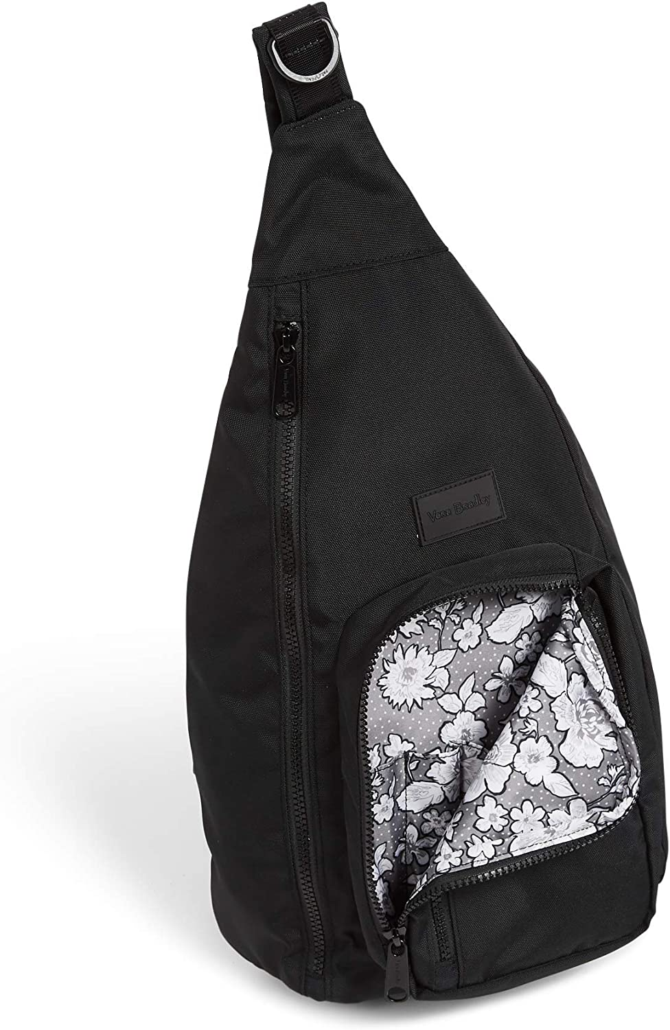 Vera Bradley Women's Recycled Lighten Up ReActive Sling Backpack, Black, One Size: Shoes