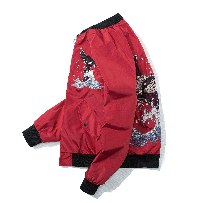 Embroidery MA-1 Military Flight Jacket Long-Sleeve Air Force Moto Wave Coat Winter B40164 Wildswan Men Biker Jacket