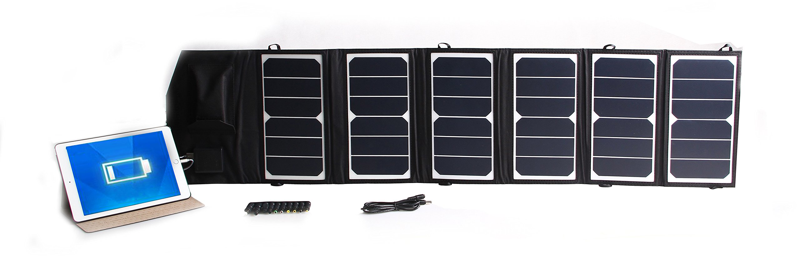TOPDC 39W Solar Panel Charger Portable Foldable High Efficiency Solar USB Charger (5V USB + 18V DC) for Phone Laptop Samsung iPad GPS Gopro Dell HP Notebook Headset and More by TOPDC (Image #7)
