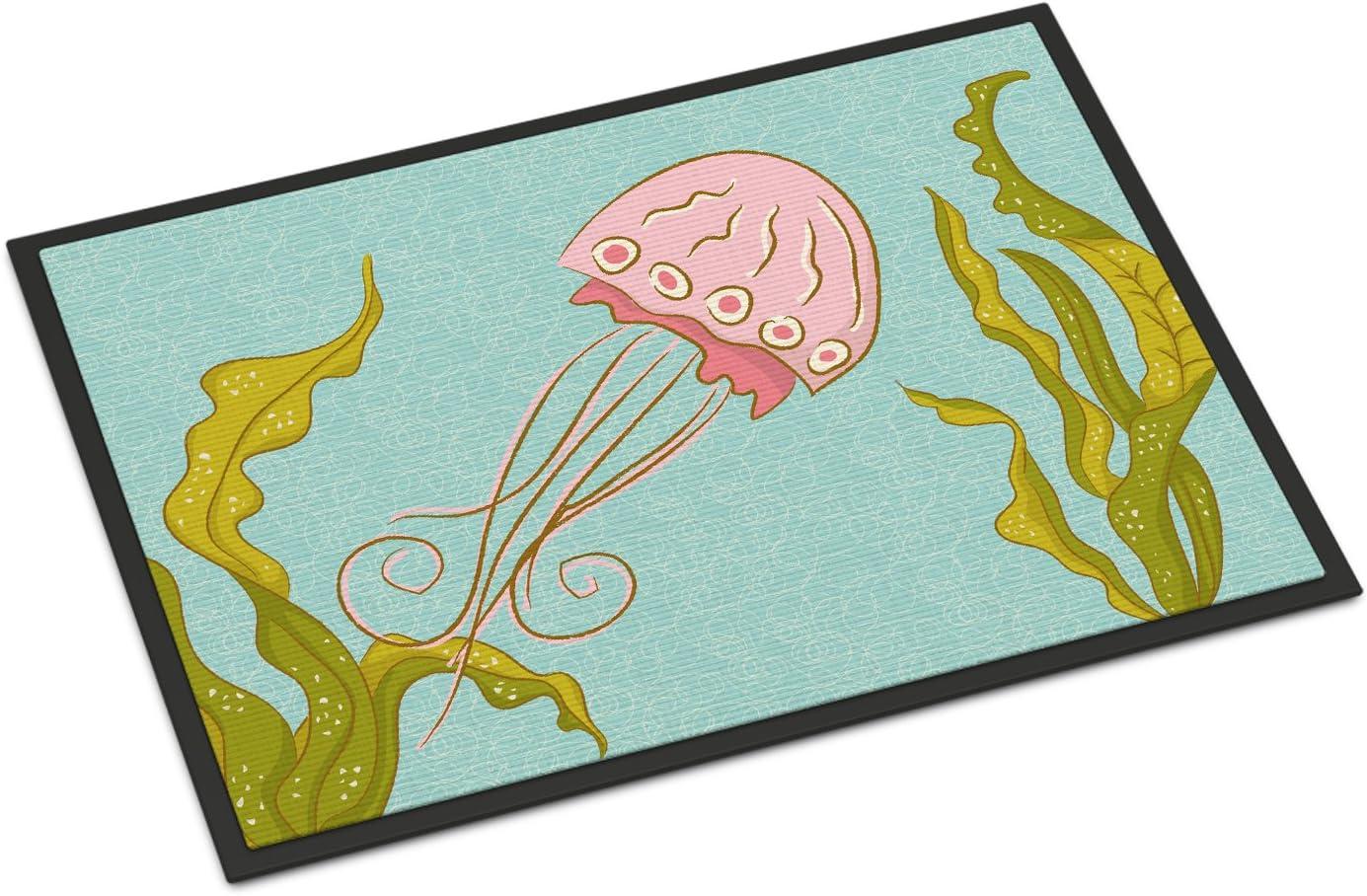 Caroline s Treasures BB8546JMAT Jelly Fish Indoor or Outdoor Mat 24×36, 24H X 36W, Multicolor