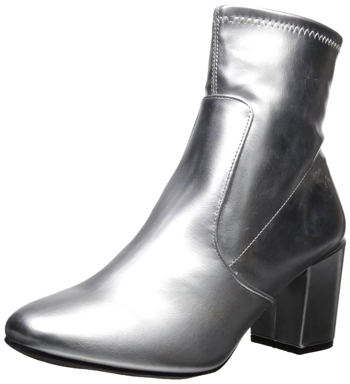 Rampage Women's Itsie Block Heel Stretch Ankle Dress Bootie Fashion Boot B076K89MDT 6.5 B(M) US Silver/Metallic
