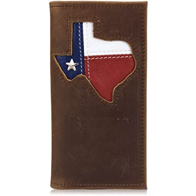 959ed6a397c127 Image Unavailable. Image not available for. Color: Western Distressed  Leather Rodeo Coat Wallet with Texas ...