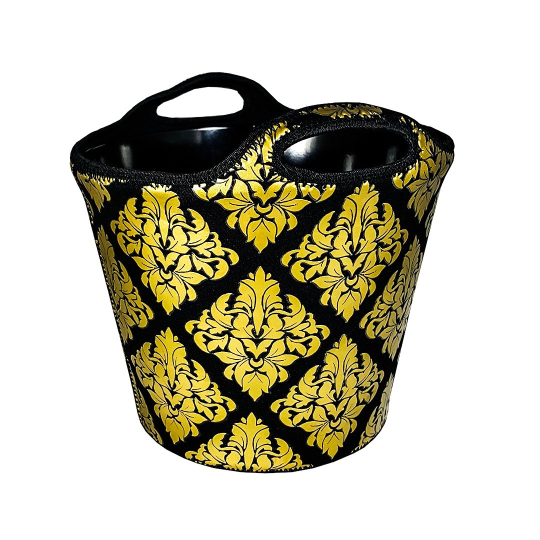 BREKX Double Walled Insulated Neoprene Beverage Bucket Chiller - Damask Wedding Gifts for the Couple   B01M6Y5IMA