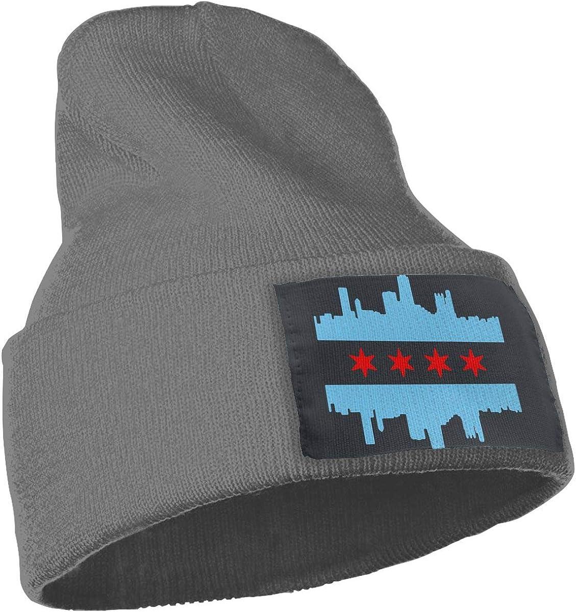MaoXCatt Chicago Flag Skyline Unisex Winter Fashion Skull Cap