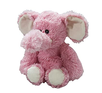 Amazon.com: Intelex Elephant Warmies Plush, Pink: Toys & Games