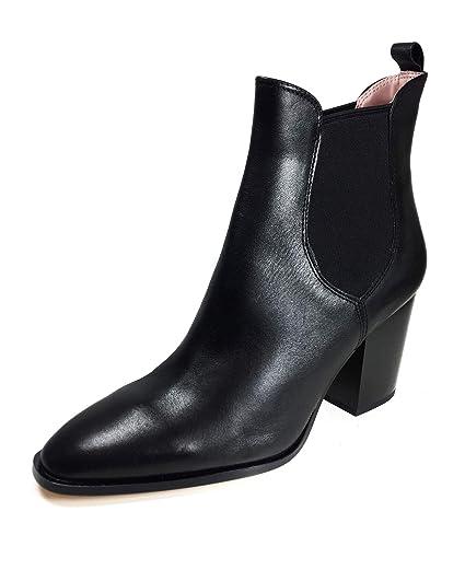 2ba71da28fe19 Amazon.com: Zara Women High heel stretch leather ankle boots 5135 ...