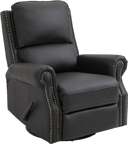 HOMCOM Manual Recliner Chair PU Leather Home Theater Single Sofa