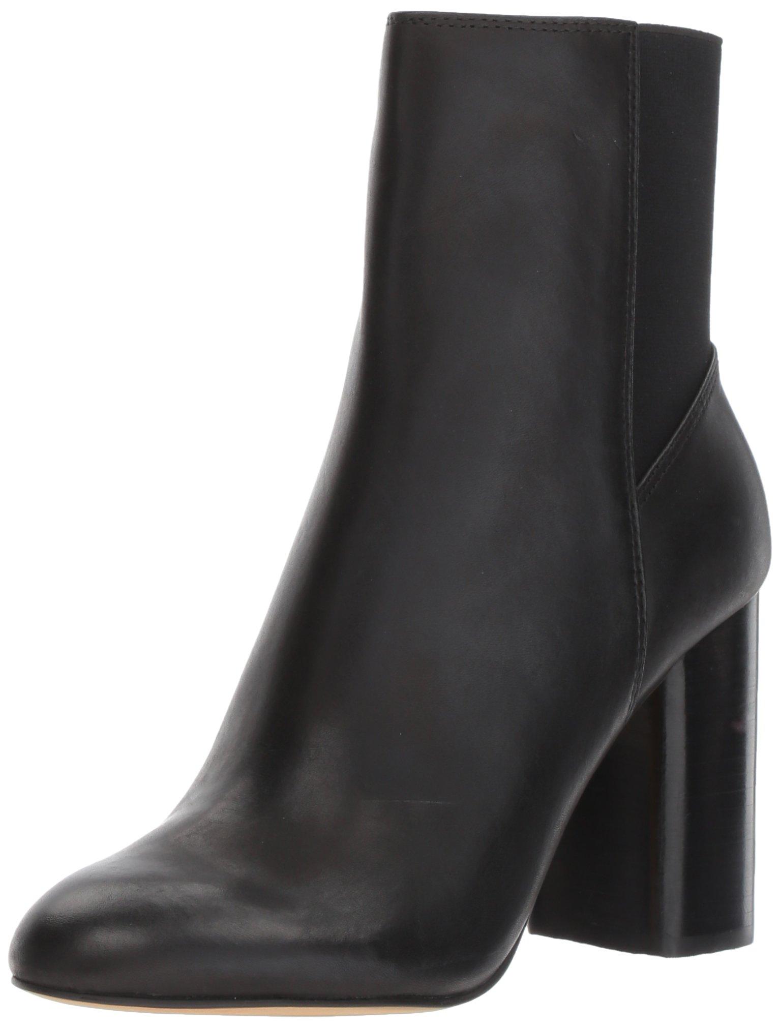 Dolce Vita Women's Ramona Fashion Boot, Black Leather, 8.5 Medium US
