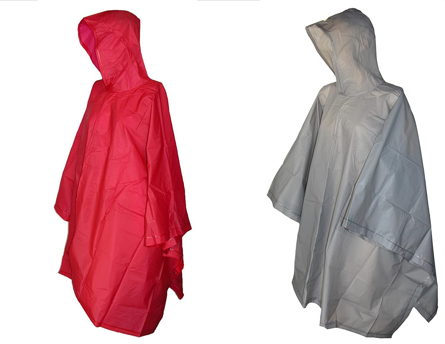 totes ISOTONER Unisex Hooded Pullover Rain Poncho with Side Snaps (Pack of 2) Blue