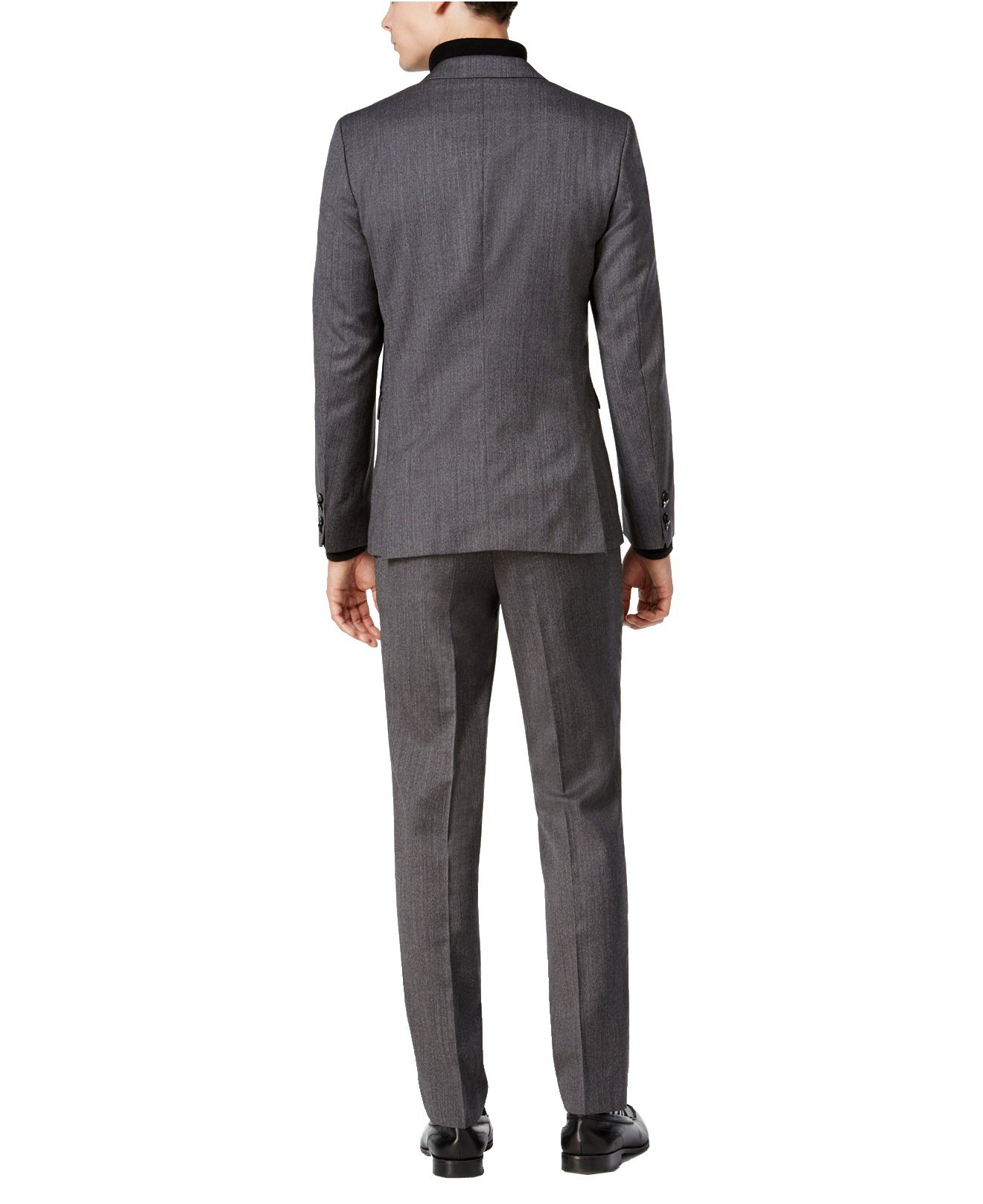 Hugo Boss Astian/Hets Extra Slim Fit 2 Piece Men's 100% Virgin Wool Suit Melange Herringbone 50320624 033 by HUGO (46 Regular USA Jacket / 40 Waist Pants) by HUGO BOSS (Image #3)