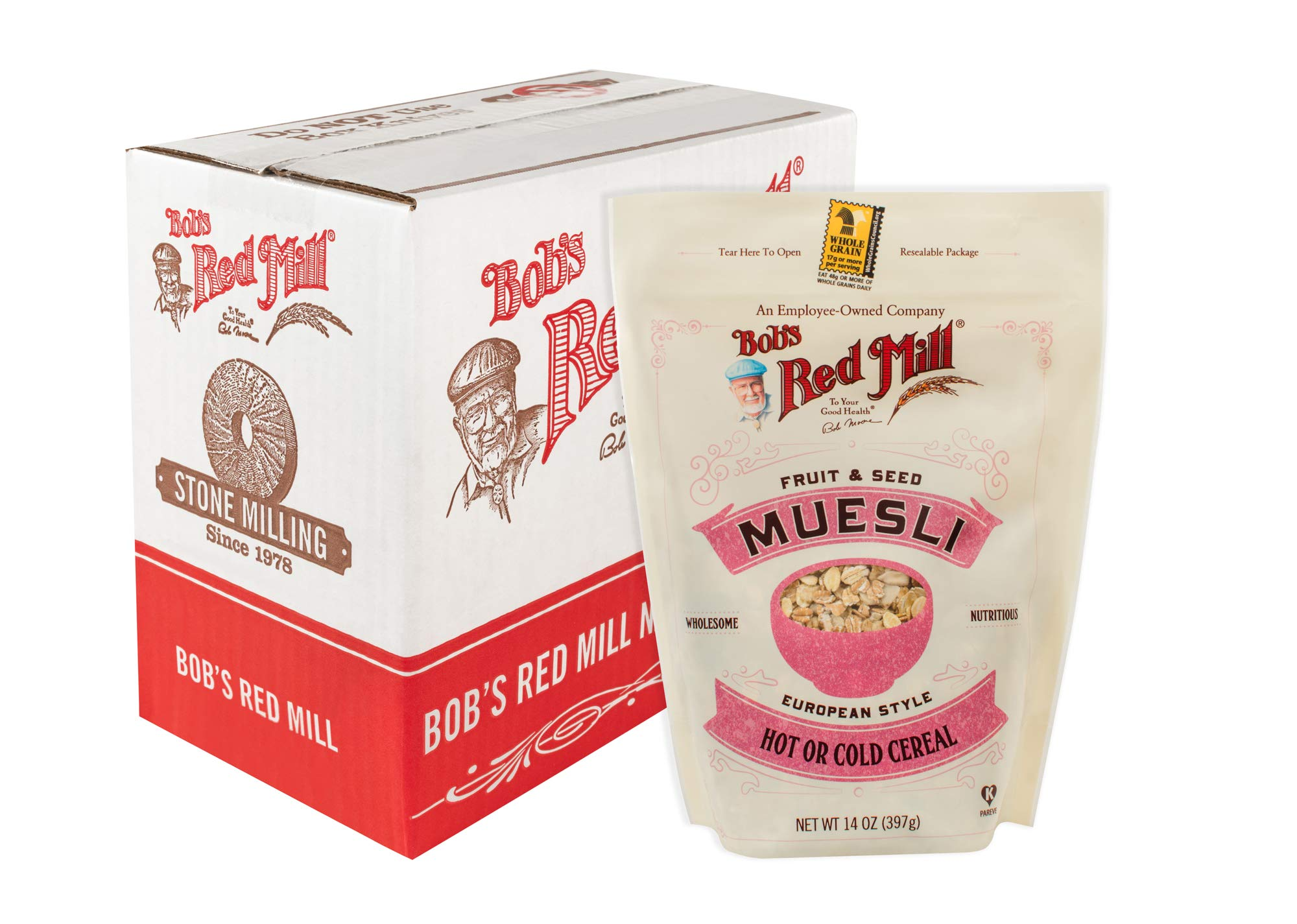 Bob's Red Mill Resealable Fruit and Seed Muesli Cereal, 14 Oz (4 Pack) by Bob's Red Mill (Image #1)