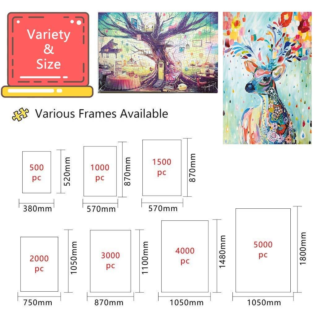 1000 Stücke aus Holz Puzzle Street Corner Luftballon Leben Dekompression Spielzeug Dekorative Malerei P5/4 (Color : H) C