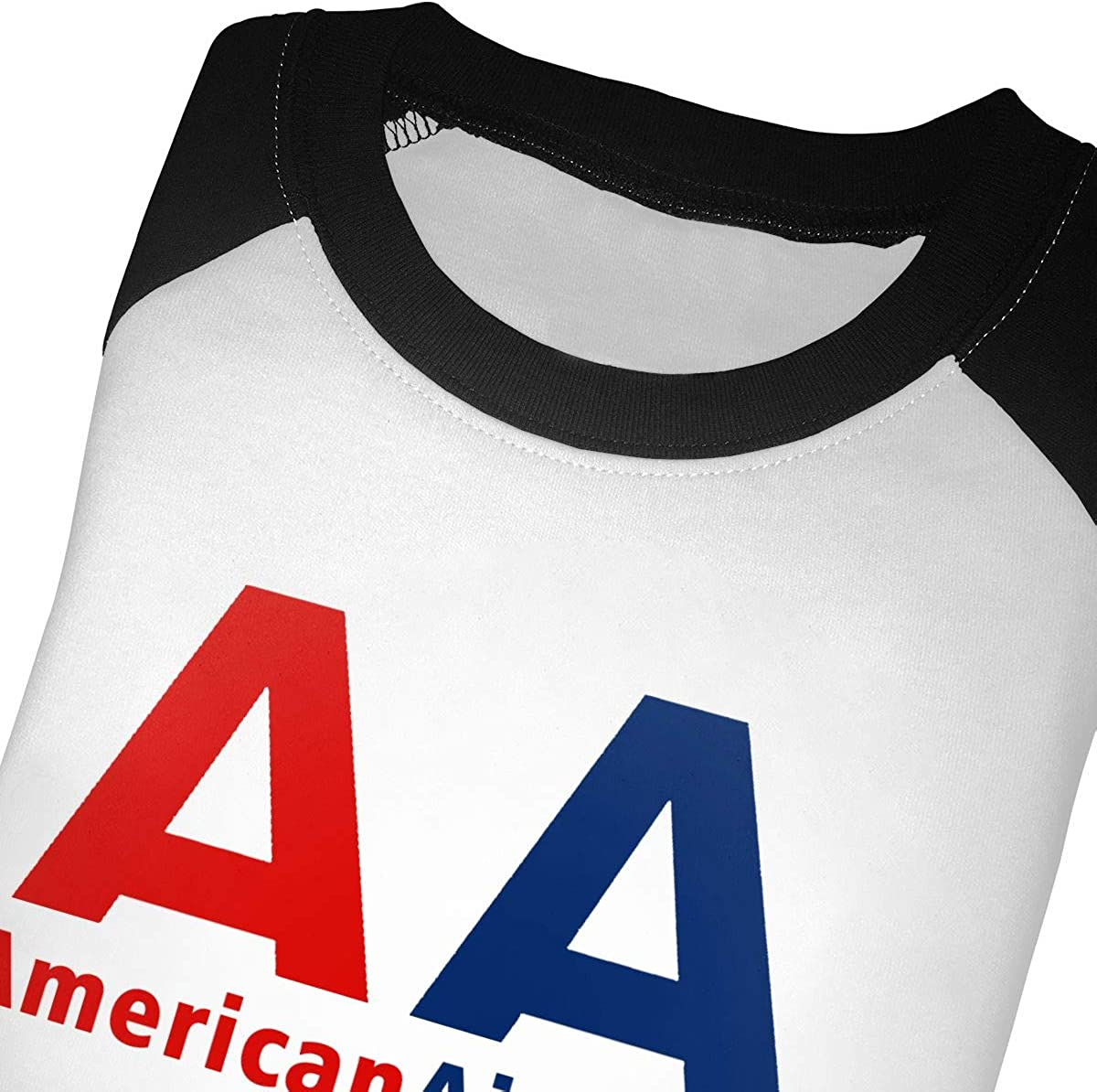 Manlee American Airlines Logo Unisex 100/% Cotton Childrens 3//4 Sleeves T-Shirt Top Tees 2T~5//6T
