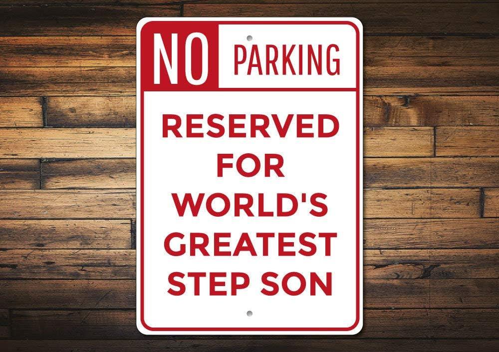 Mengliangpu8190 7 x 10 pulgadas Letrero de metal, señal de paso hijo, paso hijo, señal de estacionamiento, para hijo, graduación, regalo de cumpleaños para hijo, hijo