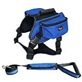 Ondoing Dog Backpack Adjustable Dog Saddle Bag