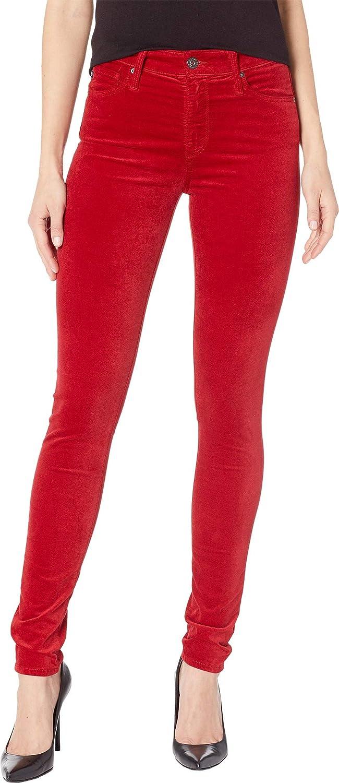 AG Adriano Goldschmied Womens Farrah Skinny in Red Amaryllis