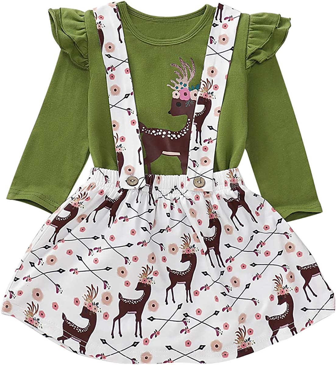 Toddler Girls Fall Suspender Skirt Pumpkin or Animal Print Outfit Cute Boutique Clothes 2 Piece Holiday Dress Up Set