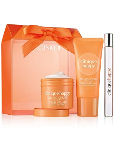 Clinique Happy Treats Perfume Spray Body Hand Lotion Set Kit