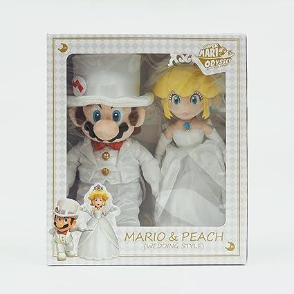 Amazon.com: Super Mario Odyssey Plush (OD04 Mario & Peach Wedding