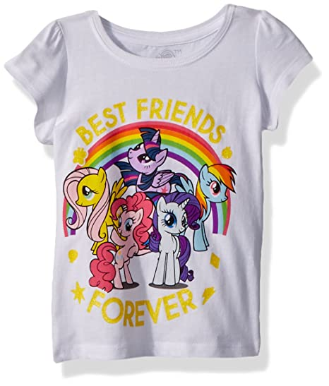 60d6355c3 Amazon.com: My Little Pony Girls' Toddler MLP Best Friends: Clothing