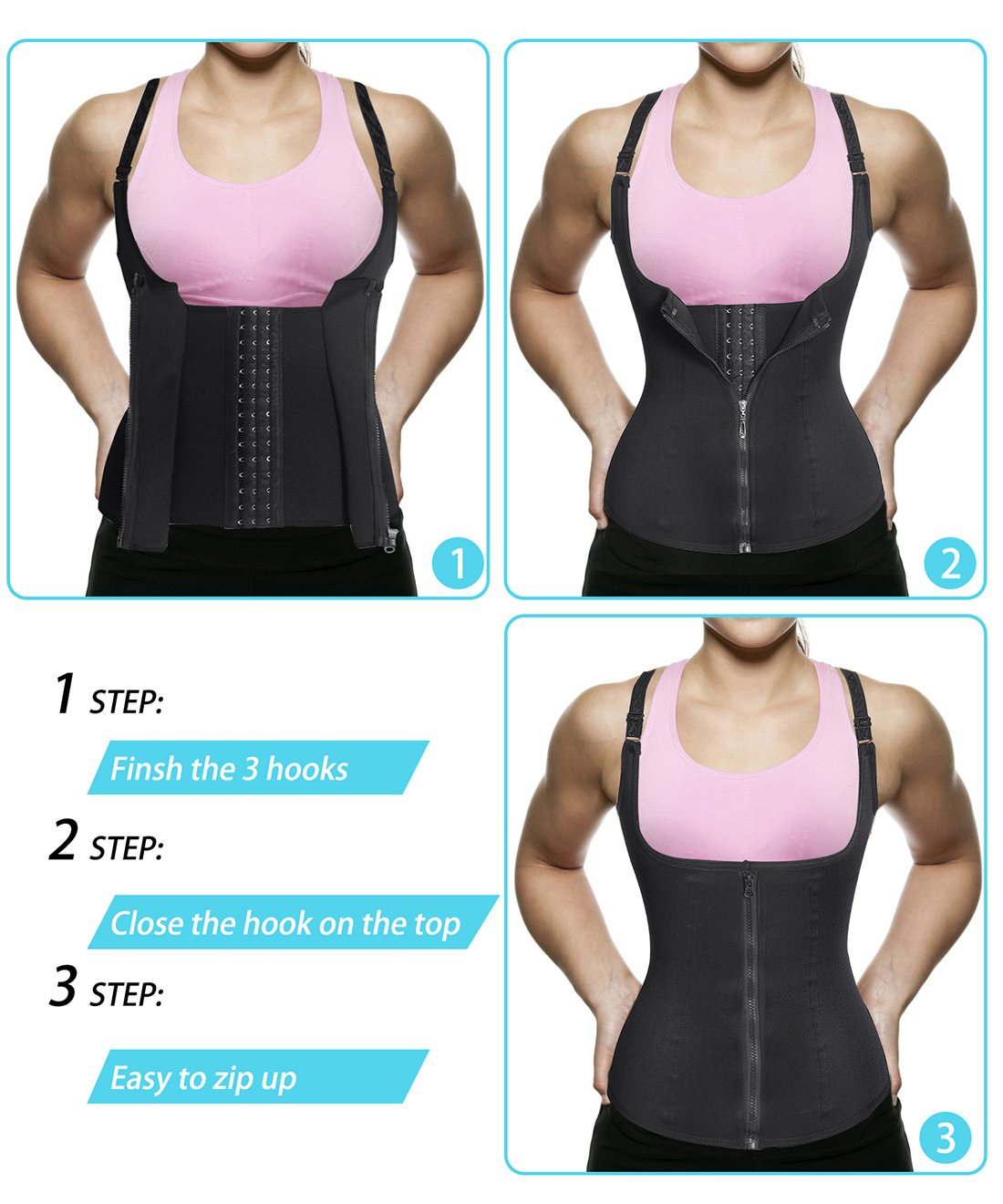 Waist trainer with Zipper